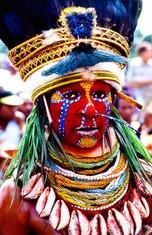 Red face beauty, Papua Newguinea
