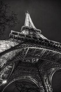 Eiffel Tower at night, Paris, France