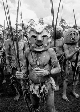 Asaro mudmen Papua New Guinea