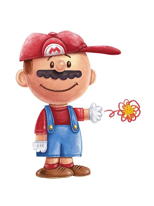 """8x10"""" Walnuts Mustache Man"""