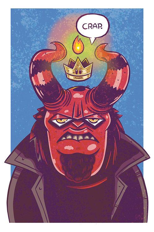 """11x17"""" Hellboy"""