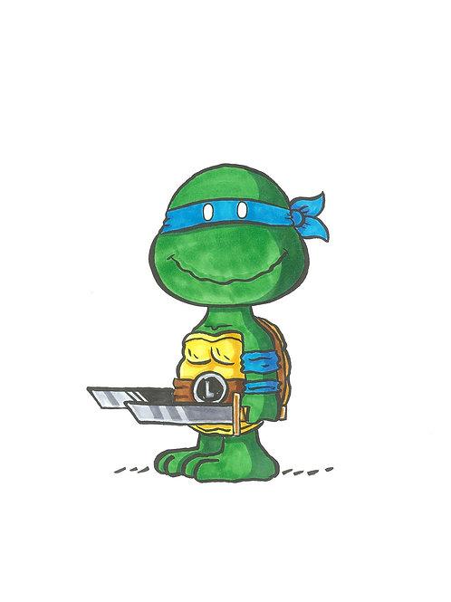 Leonardo in Charlie Brown's World