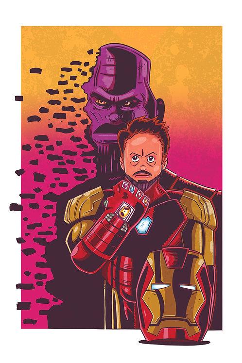 """11x17"""" Iron Man"""