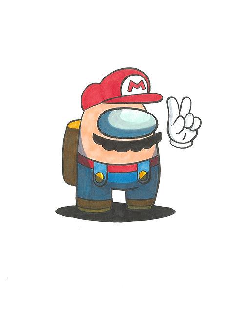 Among Us Mario