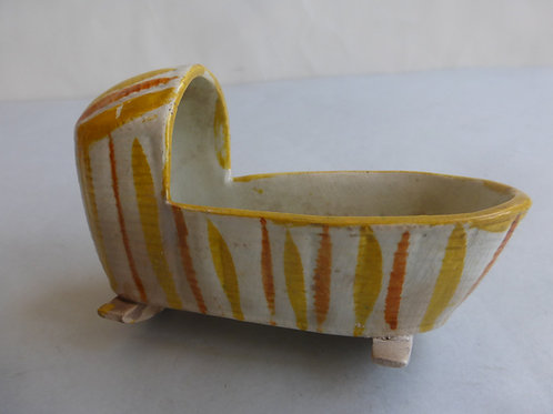 Early 19thc. Staffordshire Cradle c.1820 Ref # 4546