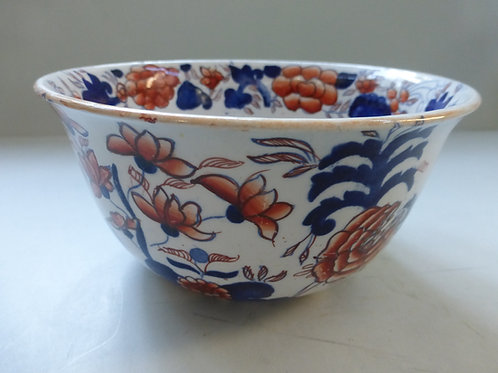 LARGE 19THC. MASONS IRONSTONE SUGAR BOWL IN IMARI PATTERN