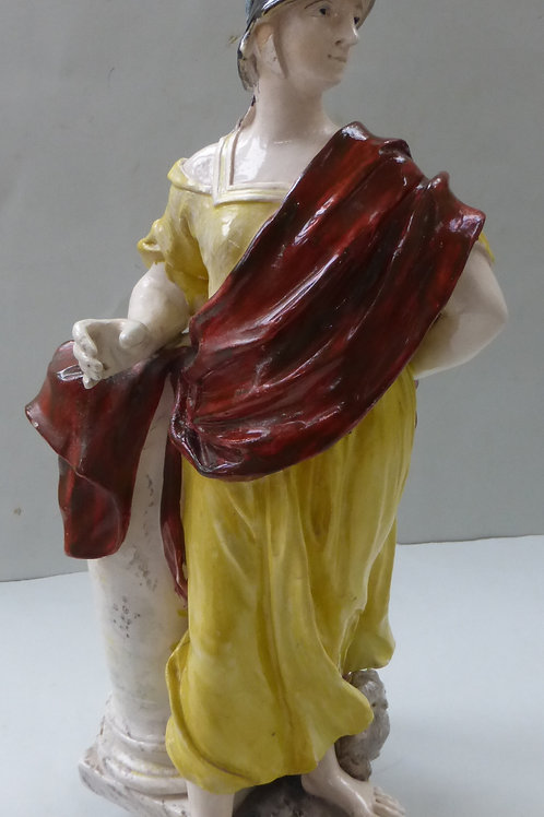 RARE EARLY 19THC STAFFORDSHIRE FIGURE OF MINERVA