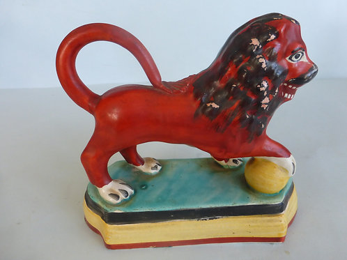 Early 19thc. Staffordshire Lion on raised base c.1830 Ref # 4265