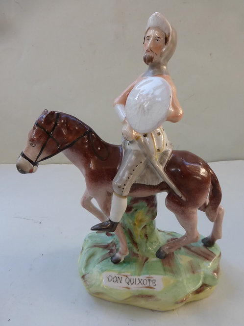 19THC. STAFFORDSHIRE TITLED DON QUIXOTE Ref. 3700