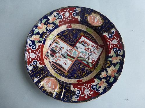 Late 19thc. Mason's/Ashworth Double Landscape Patterned Soup Bowl - Ref # 4521