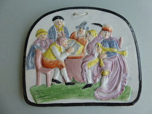 EARLY 19THC PEARLWARE POTTERY PLAQUE
