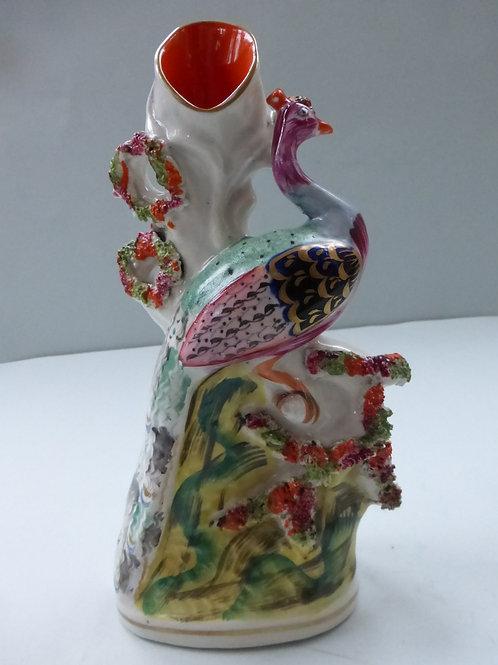 19THC.Staffordshire Spill Vase Bird of Paradise Ref. 3703
