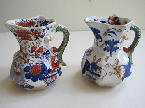 19THC. MASONS IRONSTONE JUG IN IMARI PATTERN