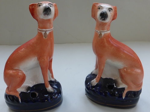 19THC. STAFFORDSHIRE GREYHOUNDS # 3217
