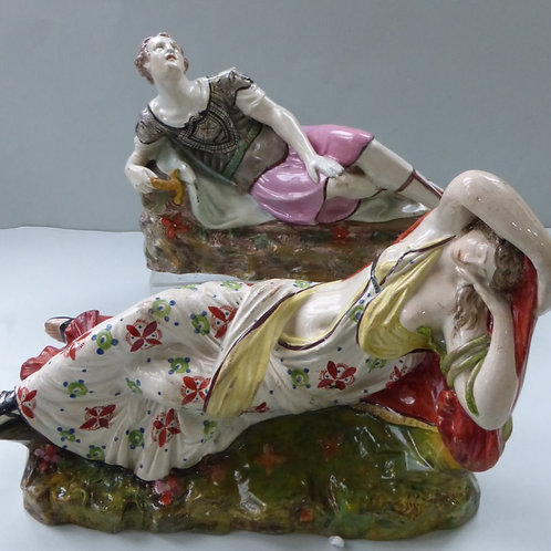 Matched Paired early 19thc. Staffordshire Anthony & Cleopatra Ref. 3746