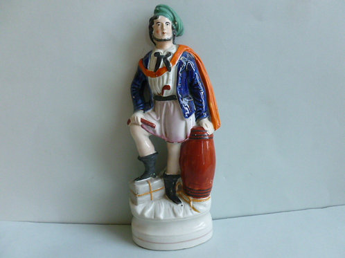 19THC. STAFFORDSHIRE PORTRAIT FIGURE OF BUCCANEER