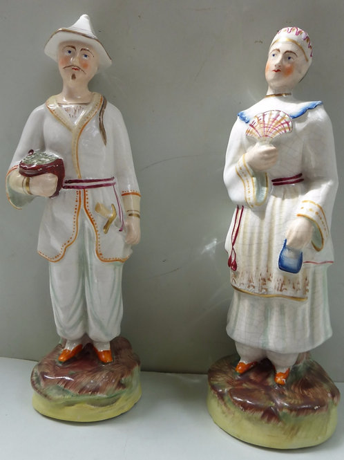 PAIR 19THC STAFFORDSHIRE FIGURES BY THOMAS PARR