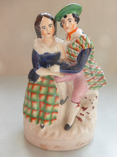 19thc. Staffordshire titled BURNS AND MARY c.1850 - Ref # 4547