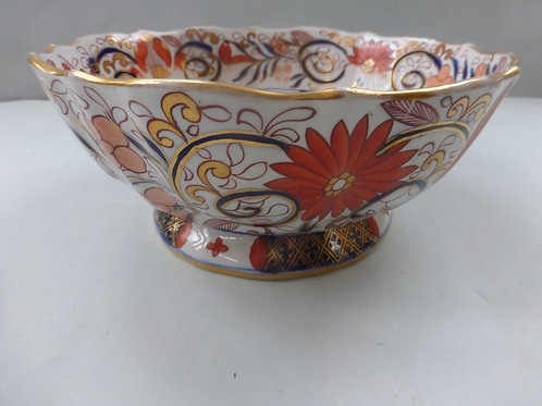 EARLY 19THC. MASONS IRONSTONE IMARI PATTERNED FOOTED BOWL Ref # 4330