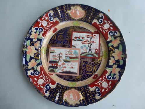 "Late 19thc. Masons/Ashworth Double Landscape Plate 10.5"" Ref # 4510"