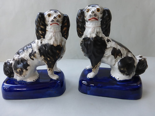 PAIR 19THC. STAFFORDSHIRE DOGS # 3504