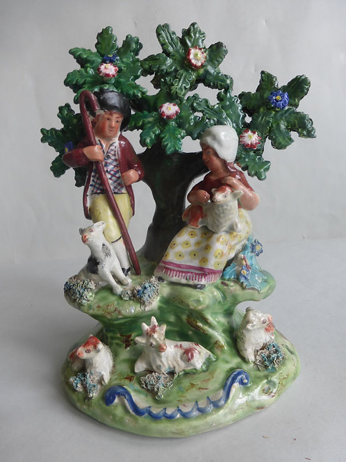 Early 19thc. Staffordshire Pearlware Group by WALTON Ref # 4617