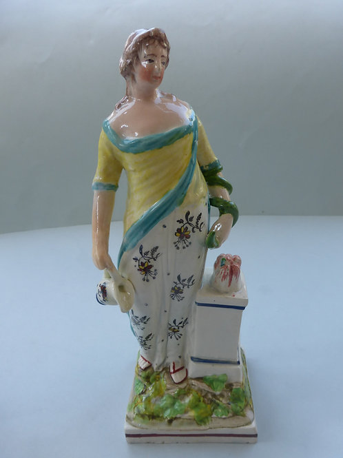 Early 19thc. Staffordshire Pearlware figure of HYGEIA Ref # 4286