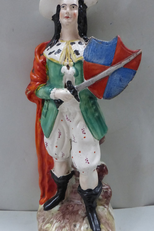 UNUSUAL 19THC THEATRICAL STAFFORDSHIRE