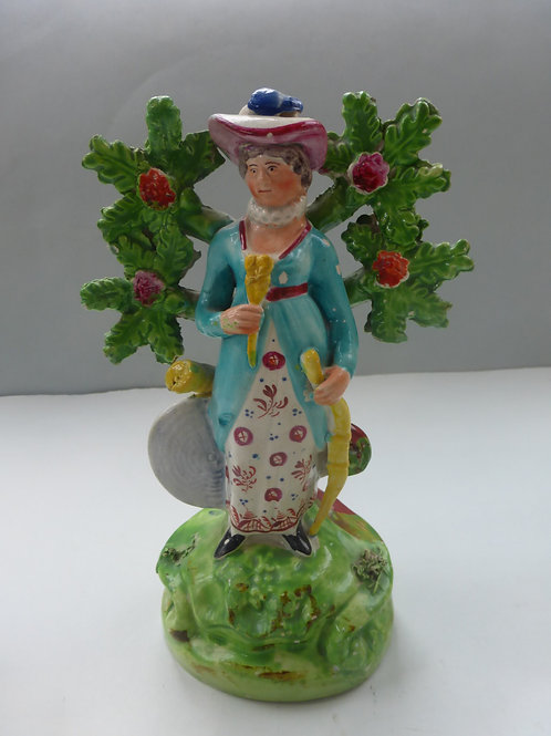19thc. Pearlware Staffordshire of Lady Archer c.1820 Ref # 4314
