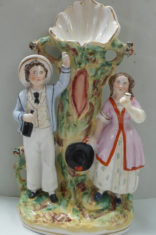 19THC STAFFORDSHIRE WATCHHOLDER KENT AND PARR