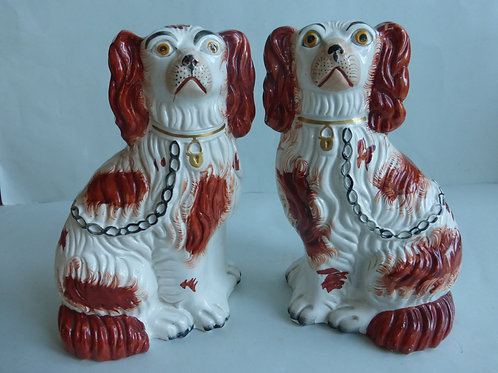 19THC. STAFFORDSHIRE DOGS # 3114