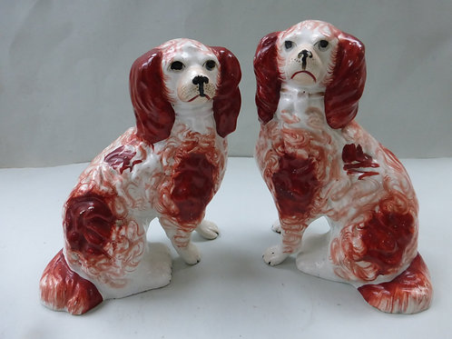 PAIR 19THC. STAFFORDSHIRE DOGS Ref. 3702