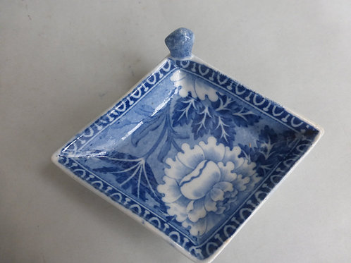 Early 19thc. Blue/White transfer Pickle Dish impressed ROGERS Ref # 4612