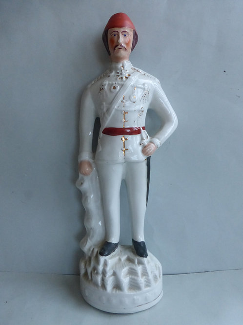 19thc. Staffordshire figure of General Gordon c.1885 - Ref # 4443