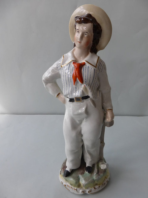 19THC. STAFFORDSHIRE FIGURE OF PRINCE ALFRED