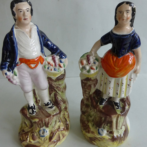 PAIR 19TH CENTURY STAFFORDSHIRE FIGURES
