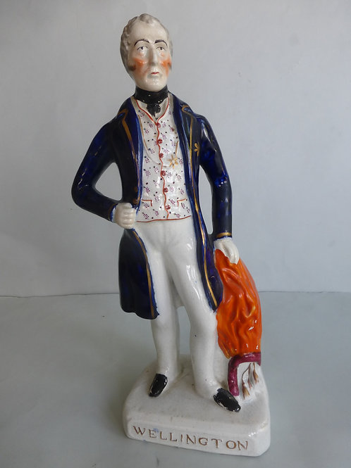 19thc. Staffordshire Portrait Figure WELLINGTON Ref # 4363