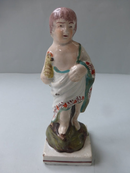 EARLY 19THC. MINIATURE SQUARE BASED FIGURE