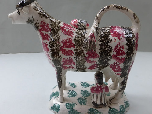 SUPERB EARLY 19THC STAFFORDSHIRE COW CREAMER