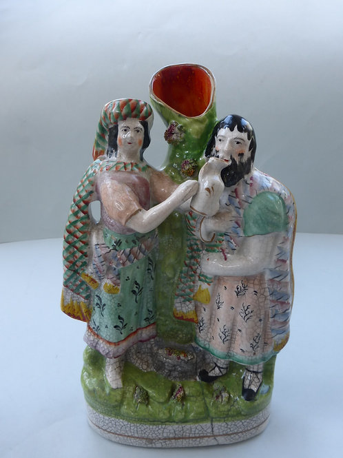 19THC. STAFFORDSHIRE RELIGIOUS FIG. REBECCA AT WELL Ref. # 4291