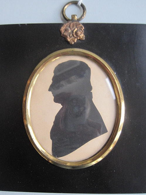 ENGLISH SCHOOL - EARLY 19THC PORTRAIT SILHOUETTE OF A GENTLEMAN