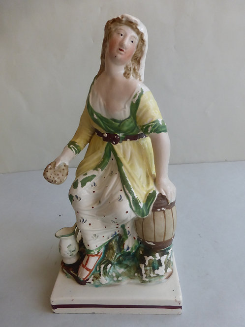 Early 19thc. Pearlware Staffordshire of The Widow of Zarapeth c.1800's