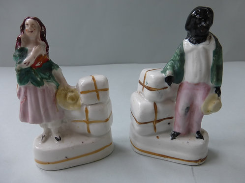 PAIR 19THC. MINIATURES OF UNCLE TOM & EVA