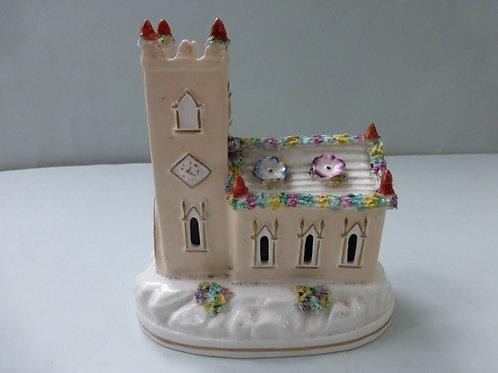 19thc. STAFFORDSHIRE PORCELLANOUS CHURCH
