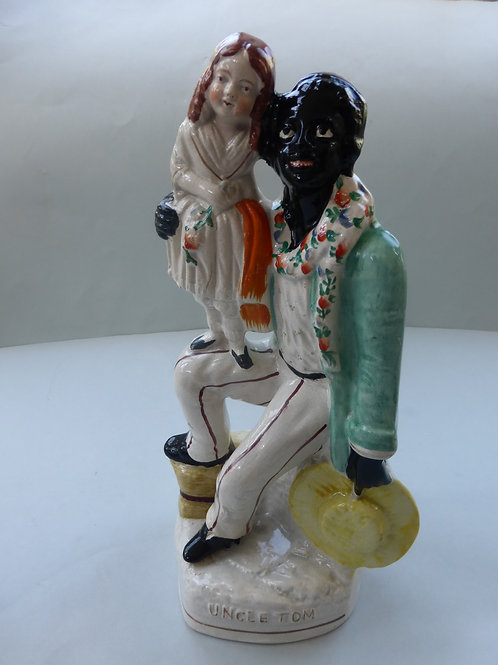19THC. STAFFORDSHIRE FIGURE OF UNCLE TOM & EVA Ref. # 4304