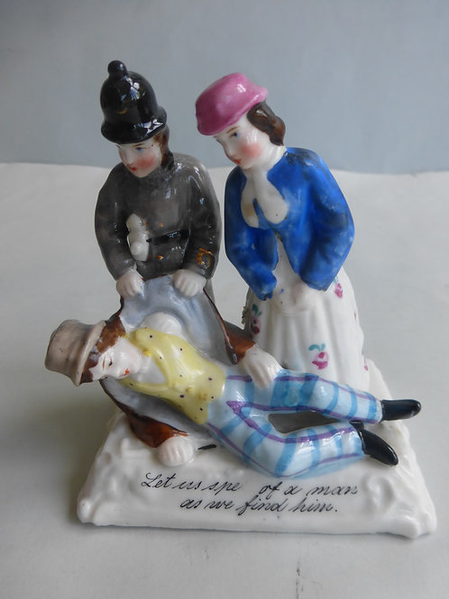 RARE 19THC. FAIRING 'Let us speak of the man, as we find him' Group X Ref # 4345