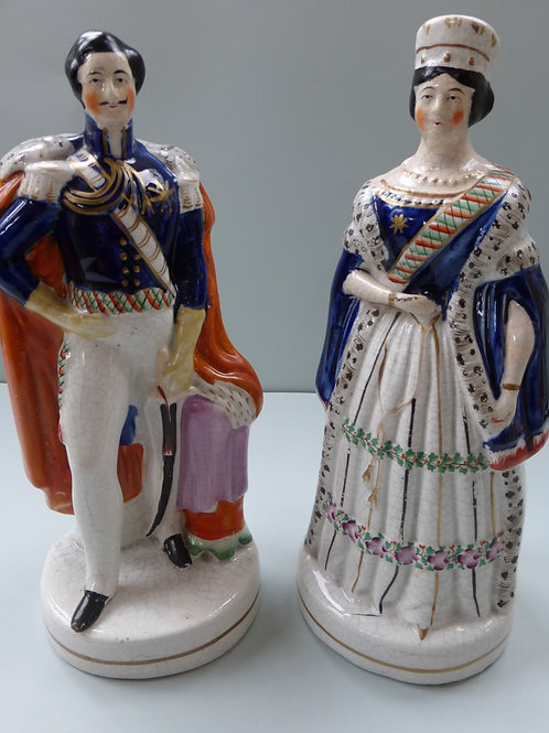 PAIR 19THC STAFFORDSHIRE QUEEN VICTORIA AND ALBERT
