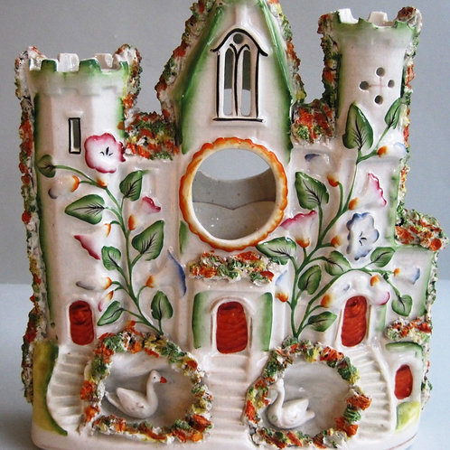 19THC. STAFFORDSHIRE CASTLE WATCHHOLDER