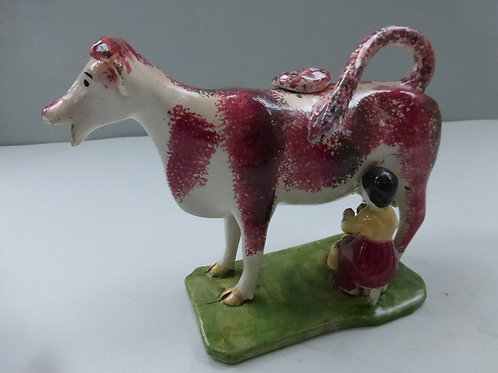 Early 19th century Staffordshire Pearlware Cow Creamer Ref. 3708