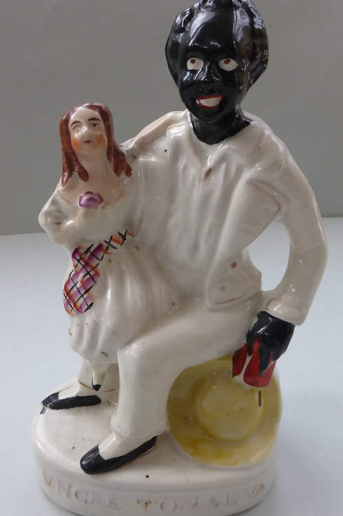 19THC STAFFORDSHIRE UNCLE TOM AND EVA